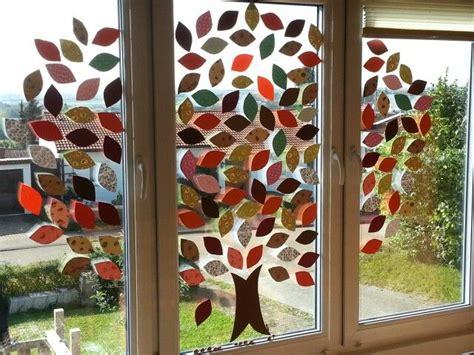 Herbstdeko Fenster Basteln Kindern by 25 Einzigartige Fensterbilder Herbst Ideen Auf