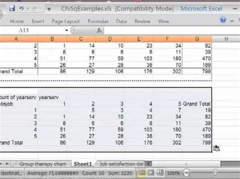 chi sq in excel pt 1 the contingency table