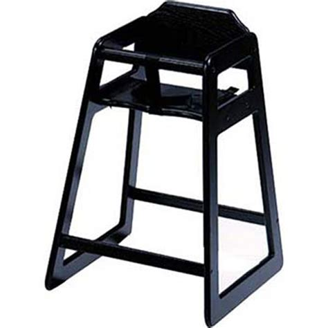 dominion s 4 wooden high chair solid oak black finish