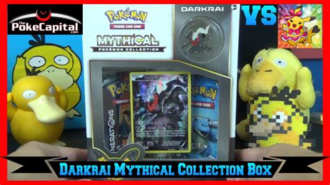 Tcg Darkrai Mythical Box cards darkrai mythical collection box opening battle vs laughing pikachu