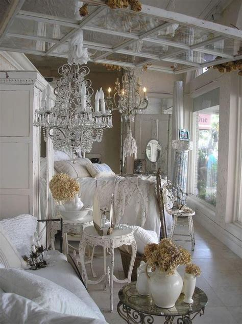 shabby chic bedroom chandelier vintage bedroom love the window frame above the bed