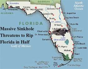 sink map of florida sinkhole threatens to rip florida in half humor