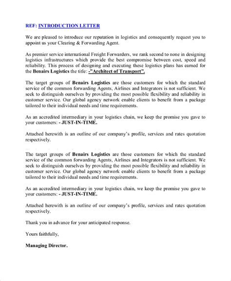 Business Cover Letter Of Introduction by 13 Sle Business Introduction Letters Pdf Doc