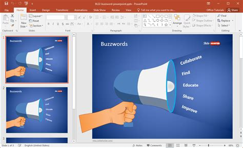 powerpoint template edit free buzzword powerpoint template