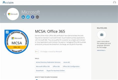 Office 365 Certification Mcsa Office 365 28 Images Exchange Anywhere Getting