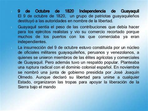 Resumen 9 De Octubre De 1820 by Independencia De Guayaquil