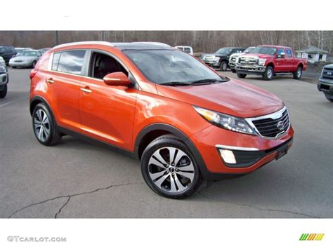 2011 Kia Sportage Ex Awd Techno Orange 2011 Kia Sportage Ex Awd Exterior Photo