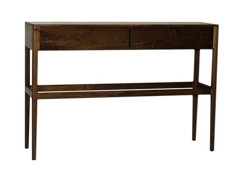modern walnut console table custom danish mid century modern style console table with