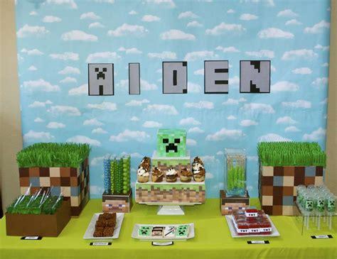 party themes minecraft minecraft birthday quot aiden s minecraft birthday