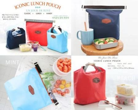 Lunch Bag Cooler And Tas Bekal Dingin Dan Panas Jelly 1 iconic insulated lunch bag tas bekal makan tahan panas