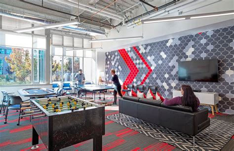 google office playroom design blitz finishes comcast office in red