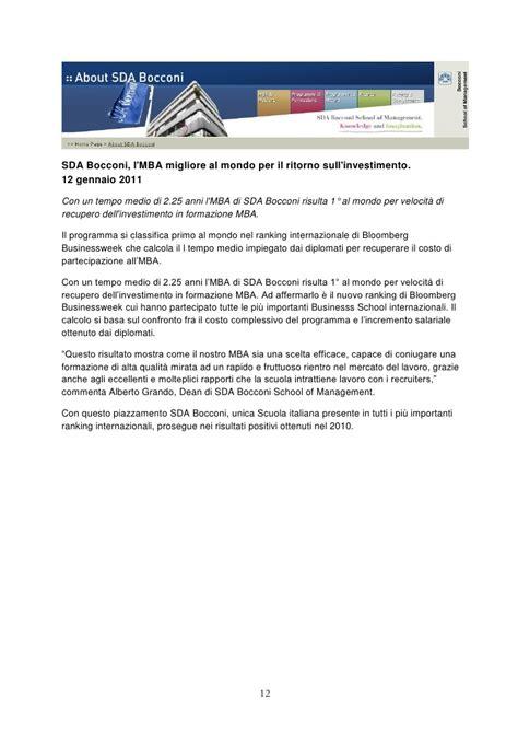 Sda Bocconi And Nyu Mba by Sda Bocconi News Rankings