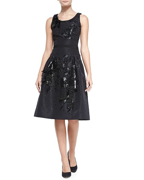 Embroidered Cocktail Dress carolina herrera beaded embroidered cocktail dress in