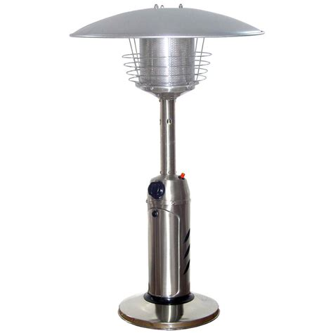 Propane Gas Patio Heaters Garden Radiance 11 000 Btu Stainless Steel Tabletop Propane Gas Patio Heater Gs3000ss The Home