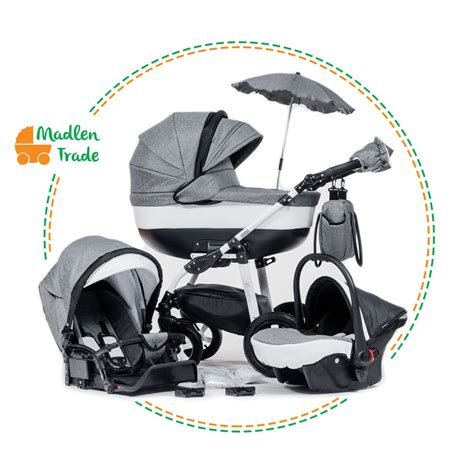 baby pram pushchair 3in1 travel system buggy optional car