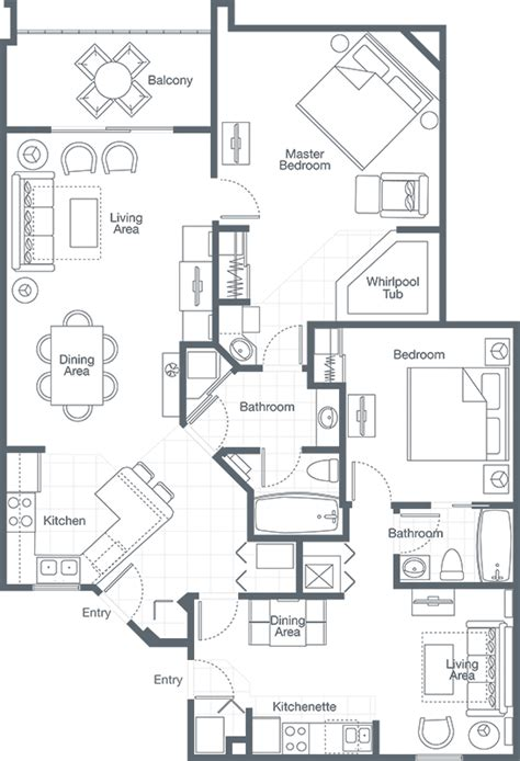 sheraton vistana resort floor plans two bedroom villa sheraton vistana resort
