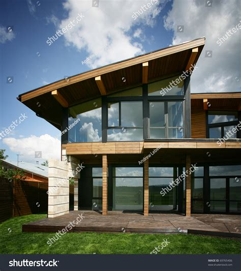 glass window house stylish design house big glass windows stock photo 69765406 shutterstock