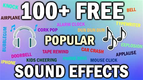 download youtube sound effects 100 free sound effects pack sound effects youtubers use