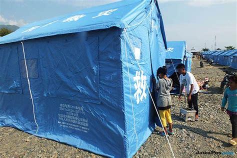 Tenda Anak Tulungagung bayi kembar tiga lahir di tenda pengungsi gempa sulteng