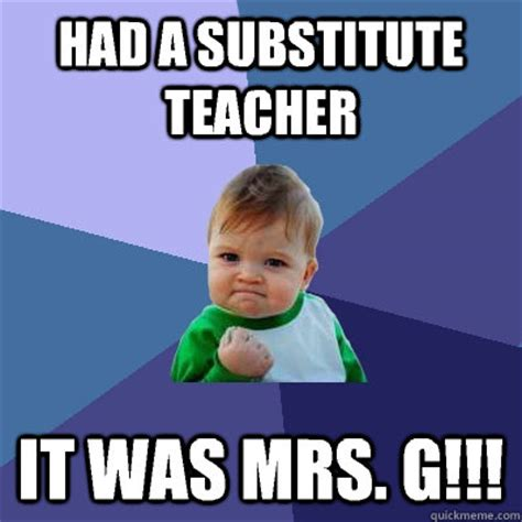 substitute teacher     success kid