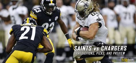 chargers week 4 new orleans saints vs san diego chargers predictions picks