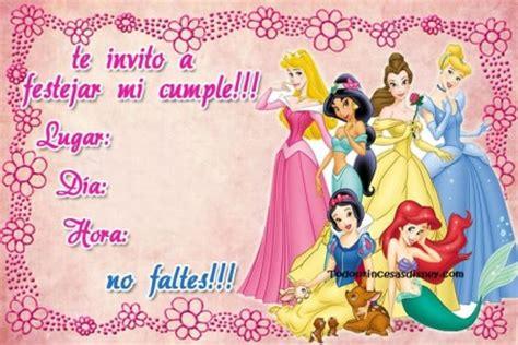 invitaci n de bautizo de princesa para imprimir invitacion de cumplea 241 os de princesas princesas disney