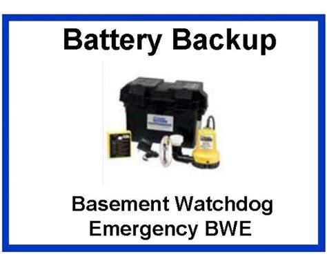 basement watchdog emergency pumps selection sump battery backup float switch by