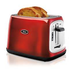 Oster Stainless Steel Toaster Oster 174 2 Slice Extra Wide Slot Toaster Metallic Red