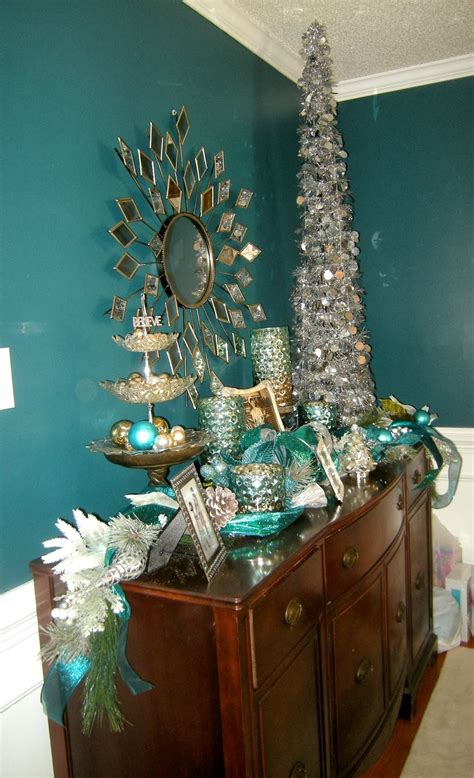 fabulous christmas teal decorations