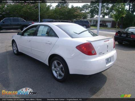 2007 pontiac g6 v6 2007 pontiac g6 v6 sedan ivory white photo 3