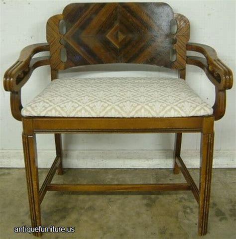 Antique Vanity Seat by Antique Deco Vanity Bench At Antique Furniture Us