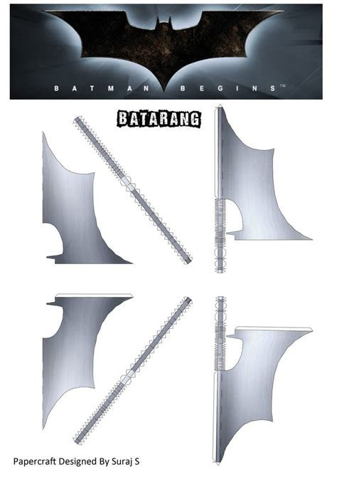 How To Make A Paper Batman Batarang - batarang batman begins papercraft by suraj281191 on