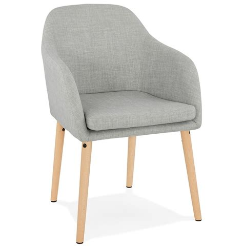 Chaise Accoudoir Scandinave by Chaise Scandinave Avec Accoudoirs Florida En Tissu Gris