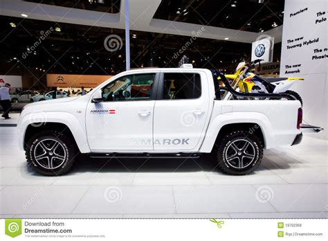 volkswagen white car white jeep car volkswagen amarok editorial stock photo