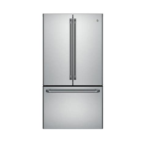 ge stainless steel door refrigerator ge cafe 23 1 cu ft door refrigerator in stainless
