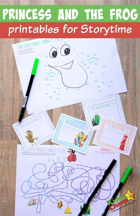 Princess And The Frog Printables For Storytime The Princess And The Frog Frog Printable