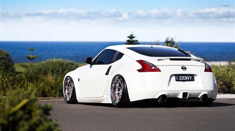nissan white car back view of a white nissan 370z wallpaper car