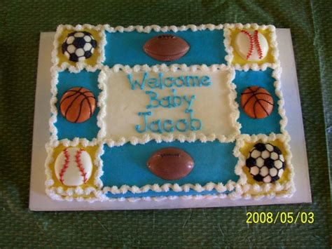 Sports Themed Baby Shower Cakes by Sports Themed Baby Shower Cakecentral