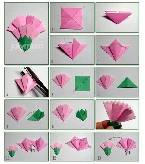 Origami Paper Nz - 종이접기 카네이션 만들기 origami craft and origami paper