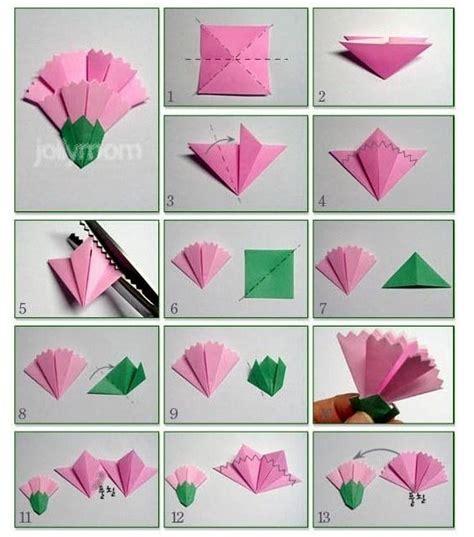 종이접기 카네이션 만들기 origami craft and origami paper