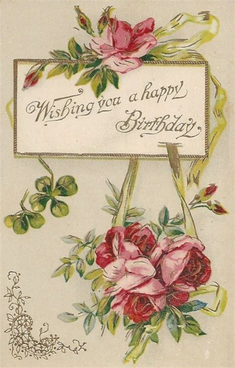 free printable victorian birthday cards vintage greeting cards printables pinterest
