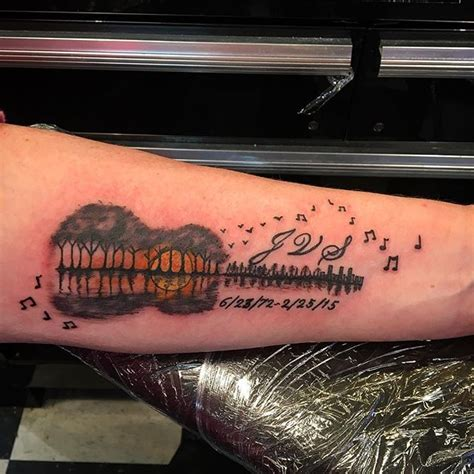 34 realistic guitar wrist tattoos