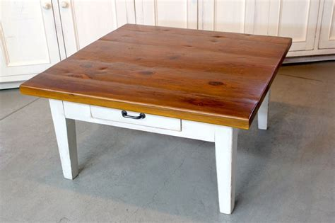 Farmhouse Coffee Table Handmade Rustic Square Farmhouse Coffee Table By Ecustomfinishes Reclaimed Wood Furniture