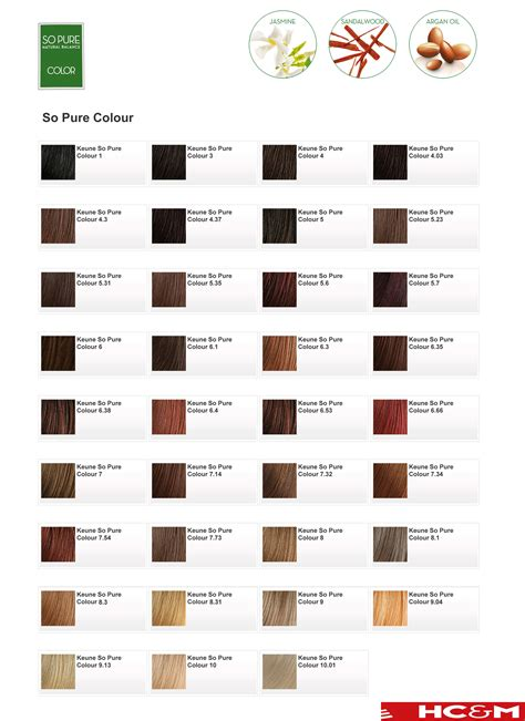 color shades keune so pure color shade chart keune pinterest