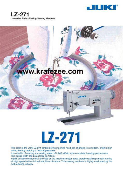 Mesin Bordir Juki Lz 271 kedai mesin sulam juki di bangi klang shah alam
