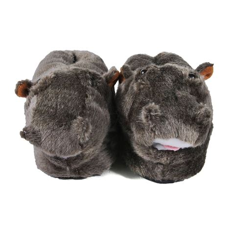 comfy animal slippers comfy hippo animal slippers mens slippers at