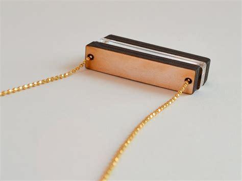 Home Design Brooklyn laser cut wood bar necklace 187 hook amp matter handmade