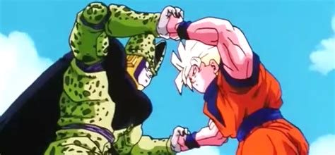 imagenes de goku vs cell motivo para goku dragon ball z capitulo 177 goku vs cell