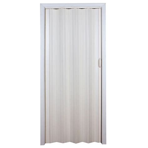 Spectrum Accordion Doors by Spectrum 36 In X 80 In Cottage Vinyl White