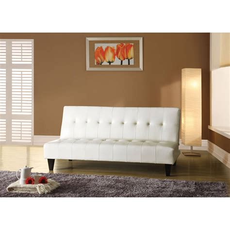 White Faux Leather Futon White Faux Leather Futon Bm Furnititure